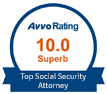 Avvo Rating 10.0 Superb Top Social Security Attorney
